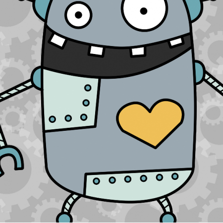10627 | ROBOT Z SERCEM - panel