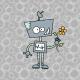10628 | ROBOT Z KWIATKIEM - panel