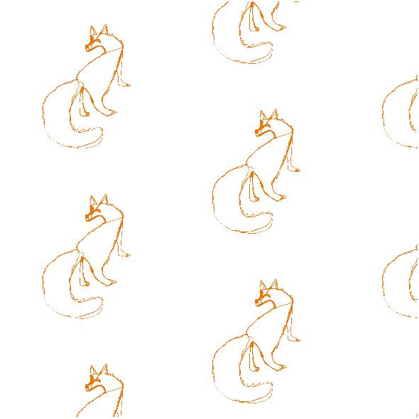 Fabric 10631 | FOX  2 - white and orange pattern