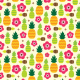 Fabric 10636 | pineapple tropical summer