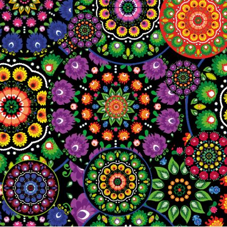 Fabric 10641 | Folk - mandala