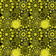 Tkanina 10656 | Folk - mandala-Żółty