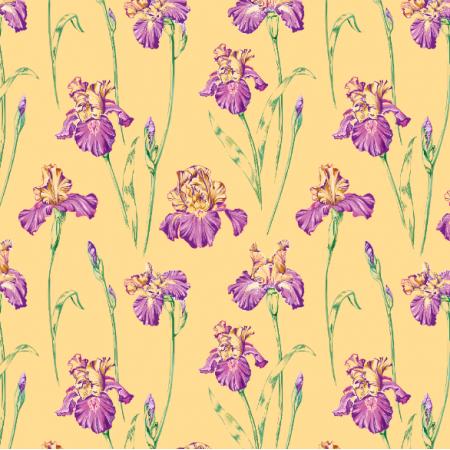 Fabric 10667 | Irises peachy