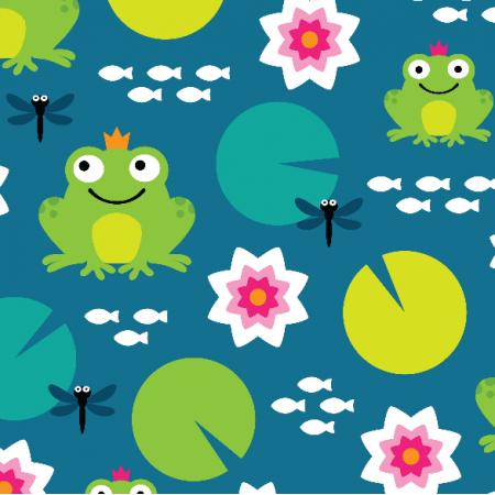 10682 | frog nenuphar dragonfly