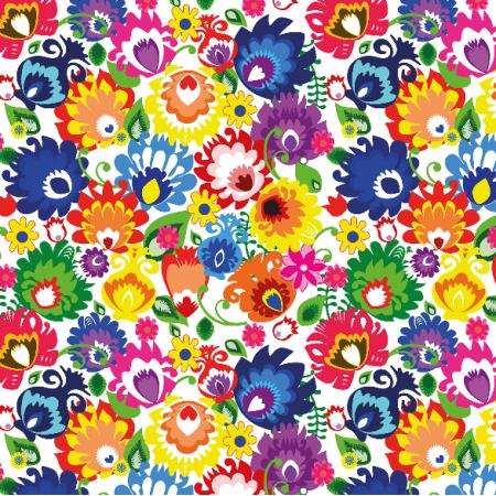 Fabric 10683 | Kwiatki - małe
