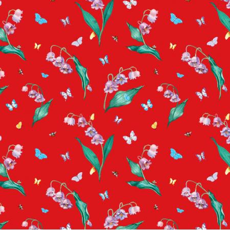Fabric 10691 | MAYLILY RED