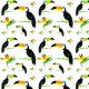 Fabric 10693   tukany w tropikach