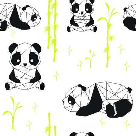 Tkanina 10697 | geometryczne pandy