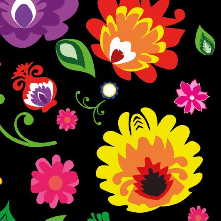 Tkanina 10701 | Folk - kwiatki