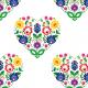 Fabric 10703 | Folk - serca - White
