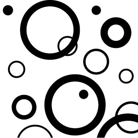 Tkanina 10707 | Hoops - Black/White