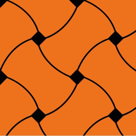 Tkanina 10724 | Doodle Pattern orange