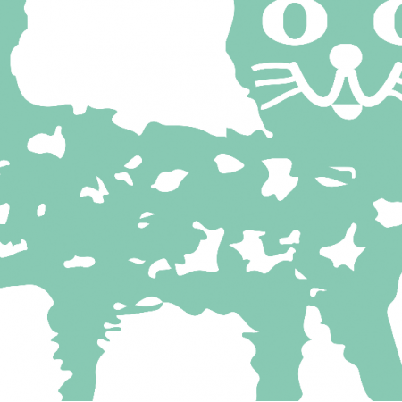 Fabric 10768 | MINT CAT - pillow