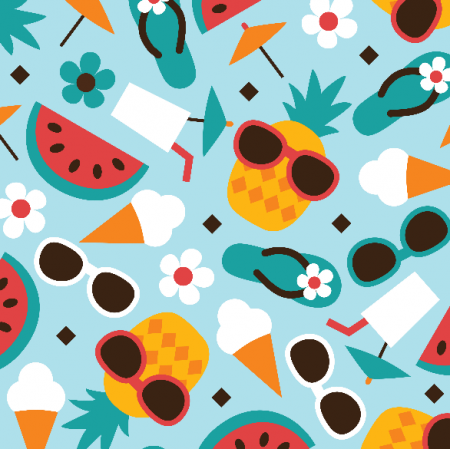 Fabric 10770 | PINEAPPLE WATERMELON ICECREAM