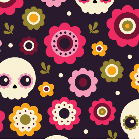 10778 | floral skulls