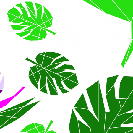 Tkanina 10807 | Monstrea i rajski kwiat