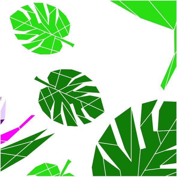 Fabric 10807   Monstrea i rajski kwiat