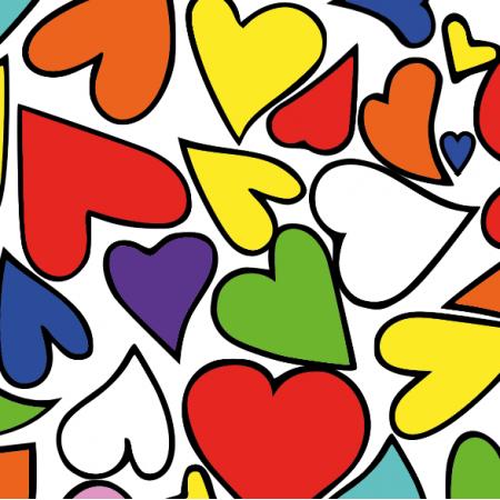 Fabric 10845 | serca kolorowe