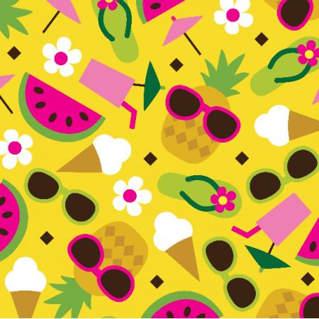 Fabric 10858 | PINEAPPLE WATERMELON ICECREAM