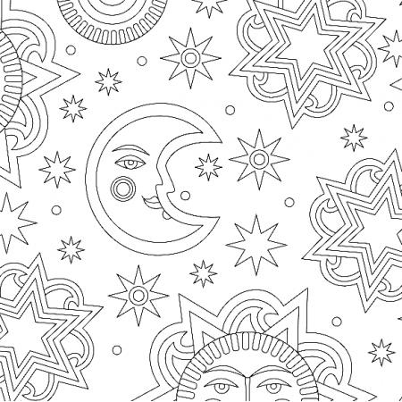 Tkanina 10885 | Słonce i gwiazdy -3