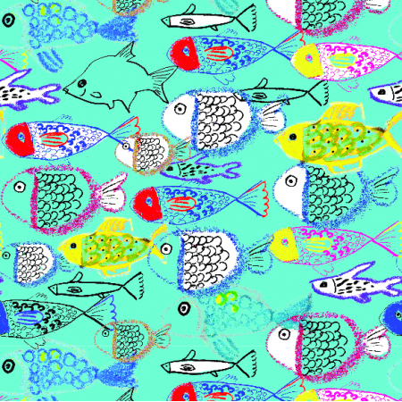 Tkanina 10890 | rybki