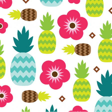 Fabric 10894 | pineapple tropical summer
