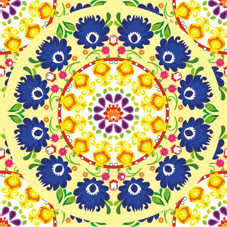 Fabric 10931 | mandala yellow