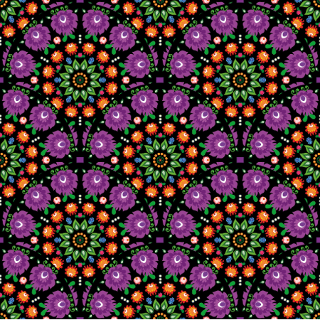 10944 | folk mandala purple