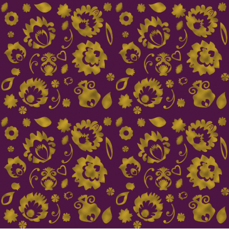 Fabric 10949 | folk Brown - purple 0