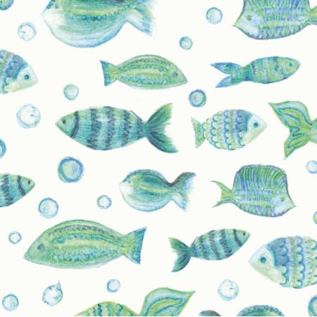 Fabric 10953 | Rybki są wszędzie0