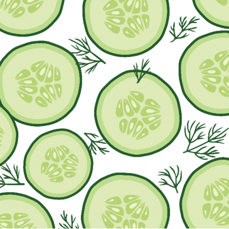 Fabric 10965 | cucumber salad