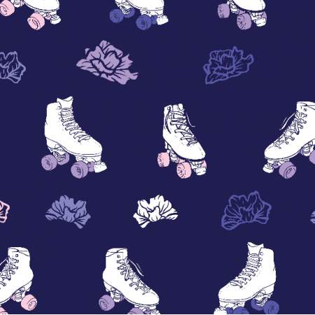 10969 | Roller skates with roses