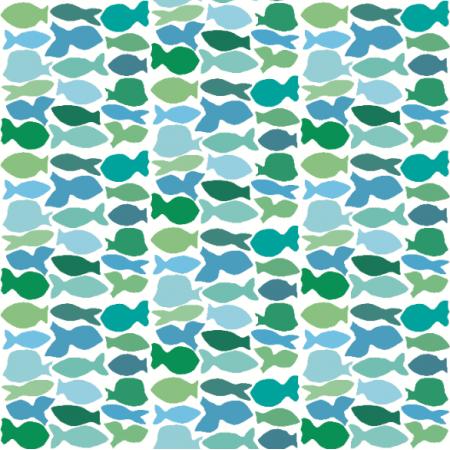 Tkanina 10972 | rybki w kwadracie