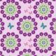 Fabric 10981 | Folk Mandala flower purple
