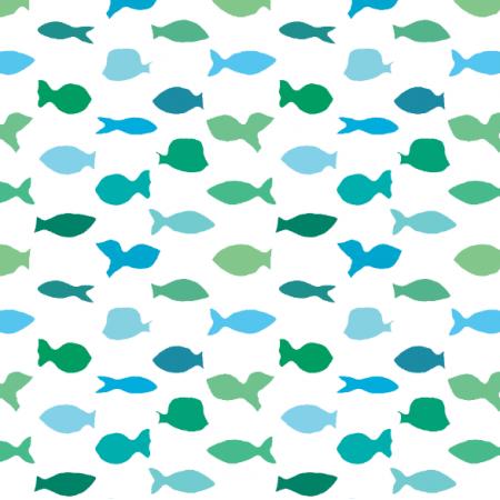 Fabric 10983 | Rybki w różnych kolorach