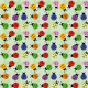 Tkanina 11023 | Biedronki - miętowe tło