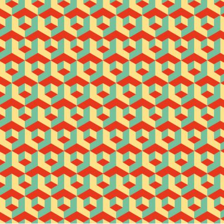 Tkanina 11033 | Retro mozaika