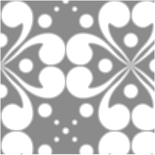 Fabric 11070 | biało-szary wzór