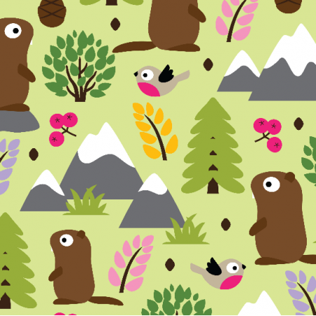 Fabric 11146 | MARMOTS ON A MOUNTAIN GLADE
