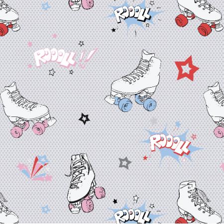 Tkanina 11187 | Comic roller skates