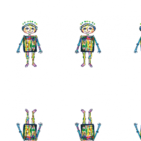 11193 | little robot - colourfull pattern for kids 2