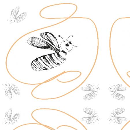 Tkanina 11194 | Bees 2