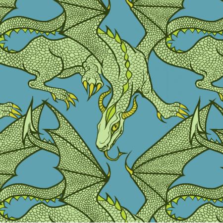 Fabric 11219 | Zielony Smok