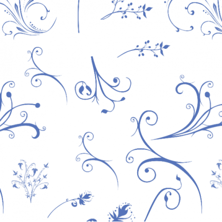 Fabric 11227 | blue flowers