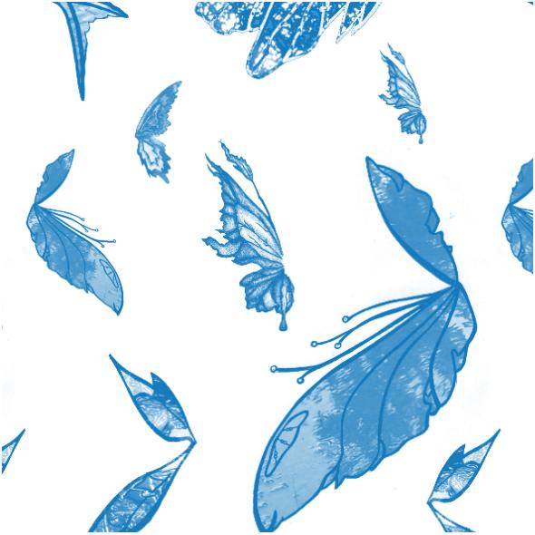 Tkanina 11229   blue butterflies