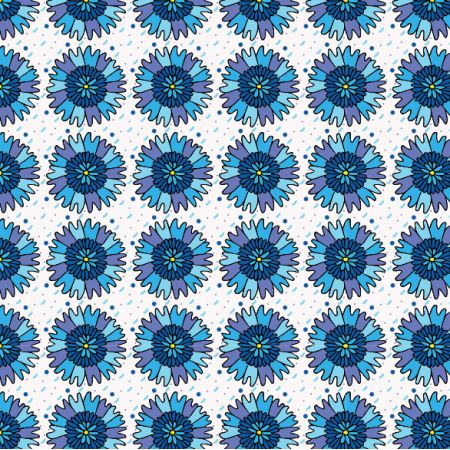 Fabric 11270 | bławatki