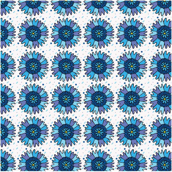 Fabric 11270   bławatki