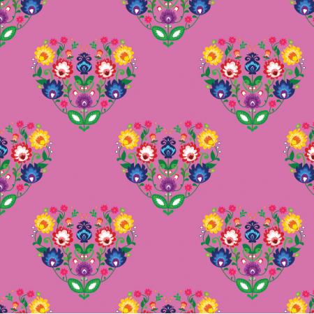 Fabric 11301 | Folk Serca Pink