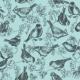 Tkanina 11314 | ptaszki w porzeczkach na tle