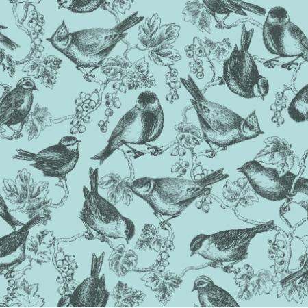 11314 | ptaszki w porzeczkach na tle